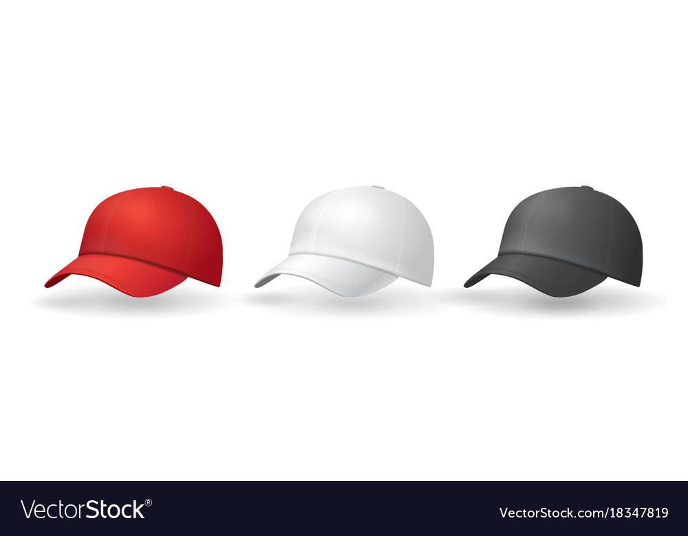 baseball hats templates uniform cap royalty free vector