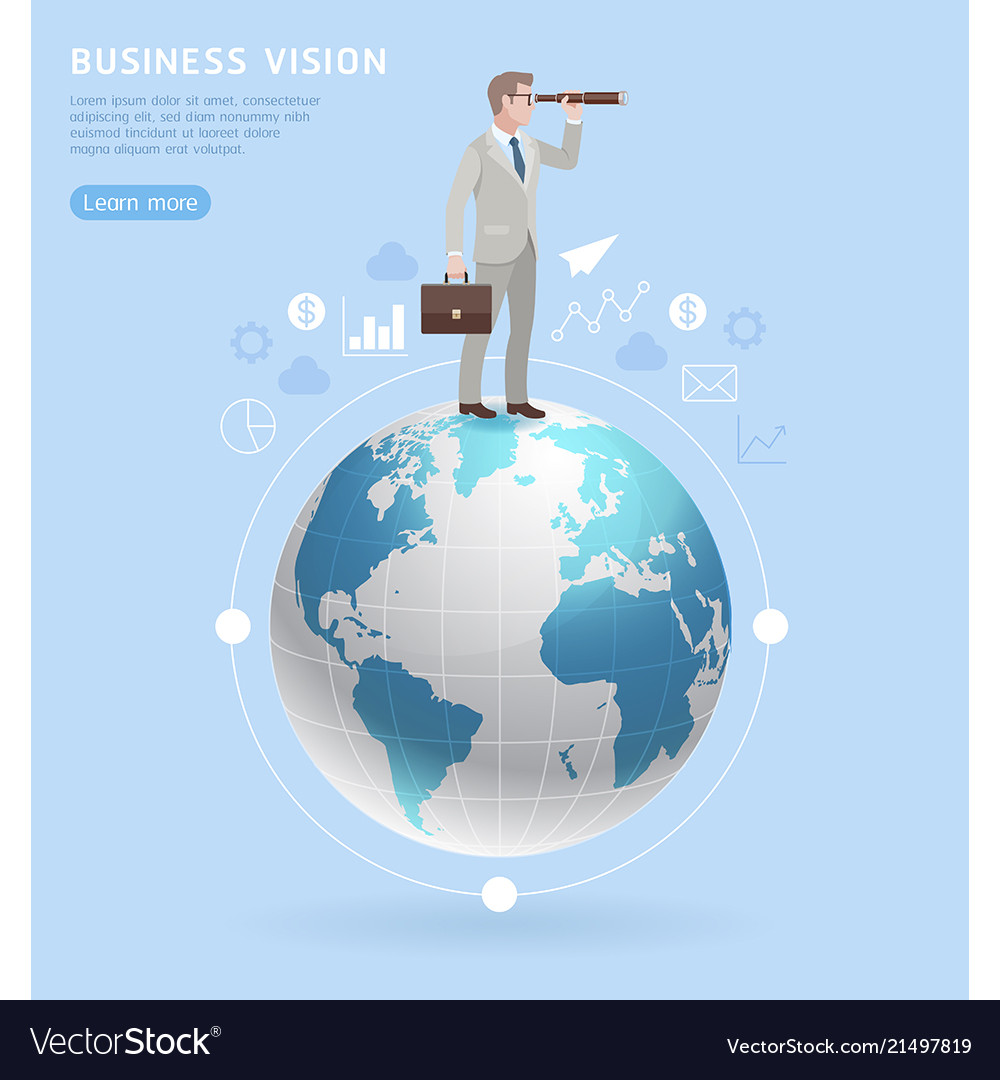 Business vision concepts businessman standing