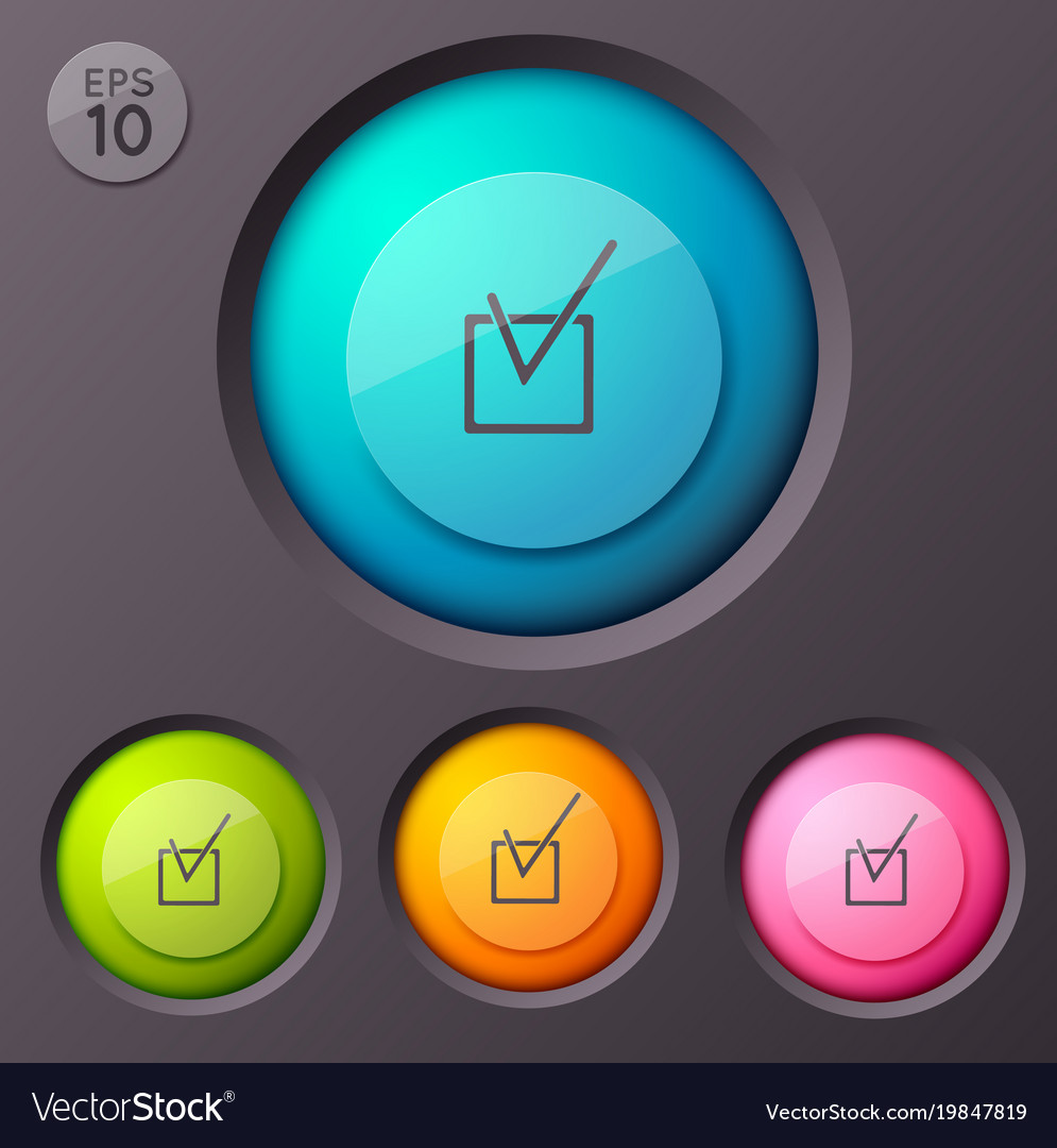 Checkbox pictogram buttons background