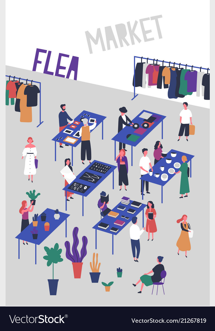 Flyer Or Poster Template For Flea Or Fashion
