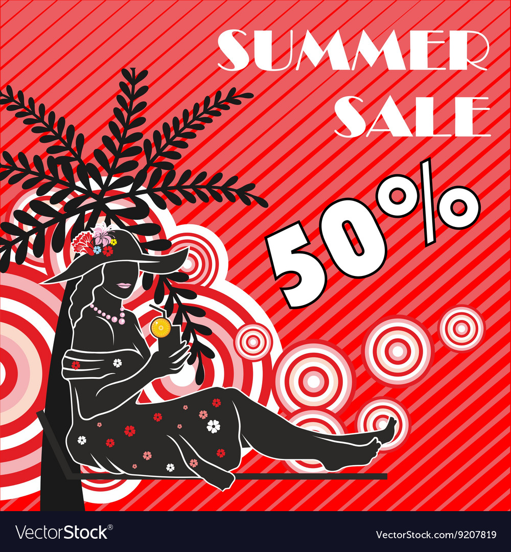 Summer sale shopping design vector image