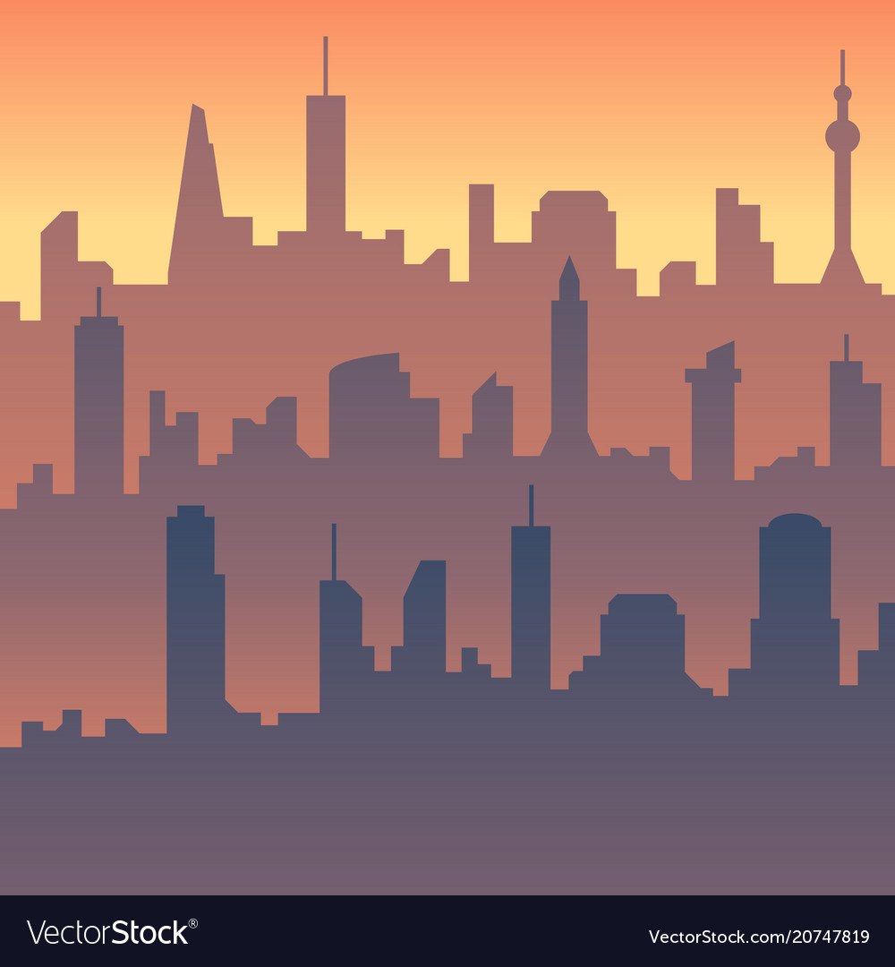 Urban cityscape cartoon city skyline