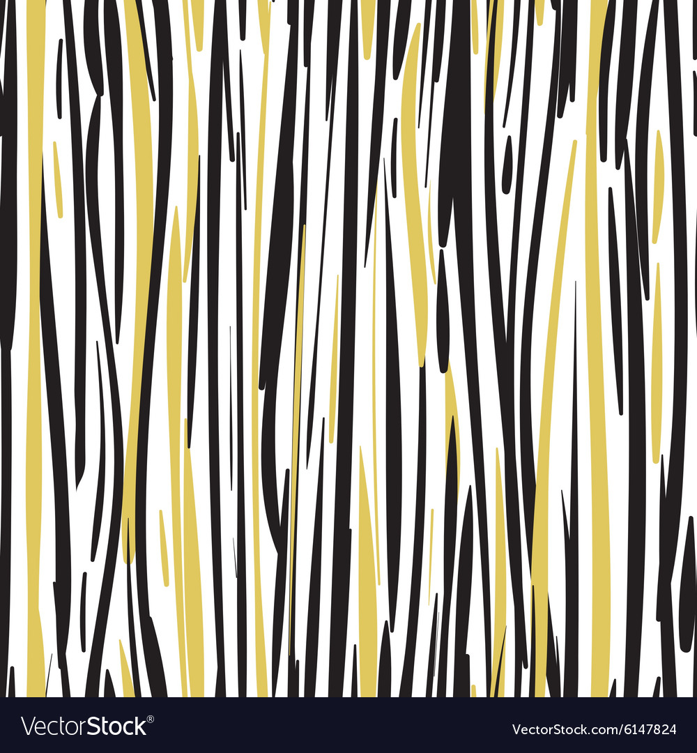 Abstract hand drawn black and gold seamless