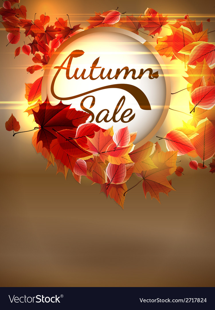 Autumn Sale background with copyspace plus EPS10