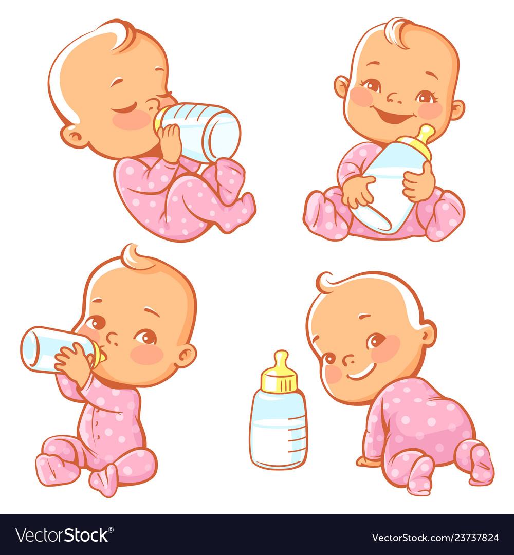 Baby and milk