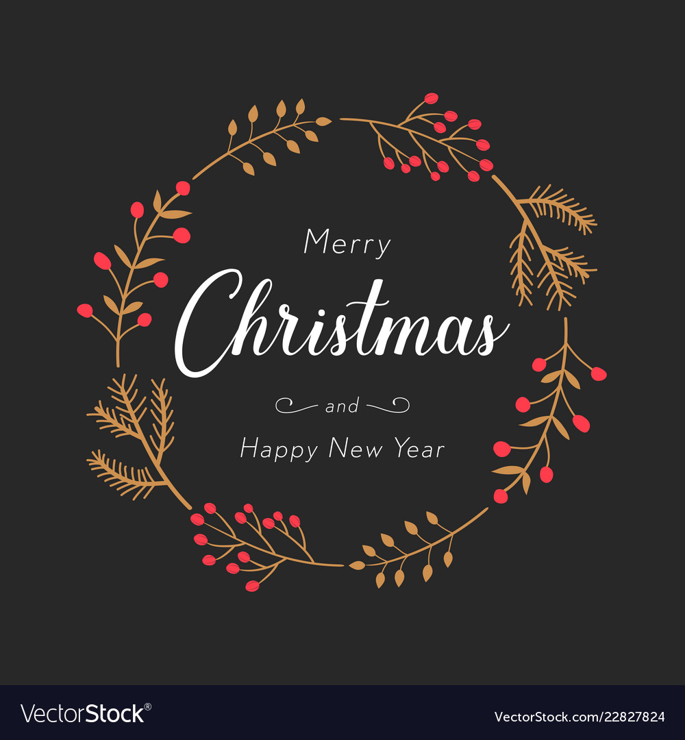 Christmas and new year greeting or invitation