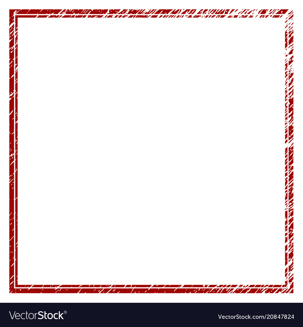 Distressed textured double square frame Royalty Free Vector