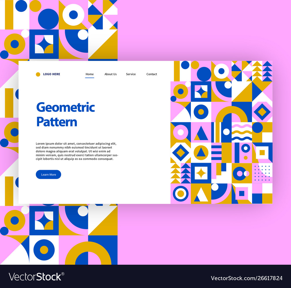 Geometric pattern website template