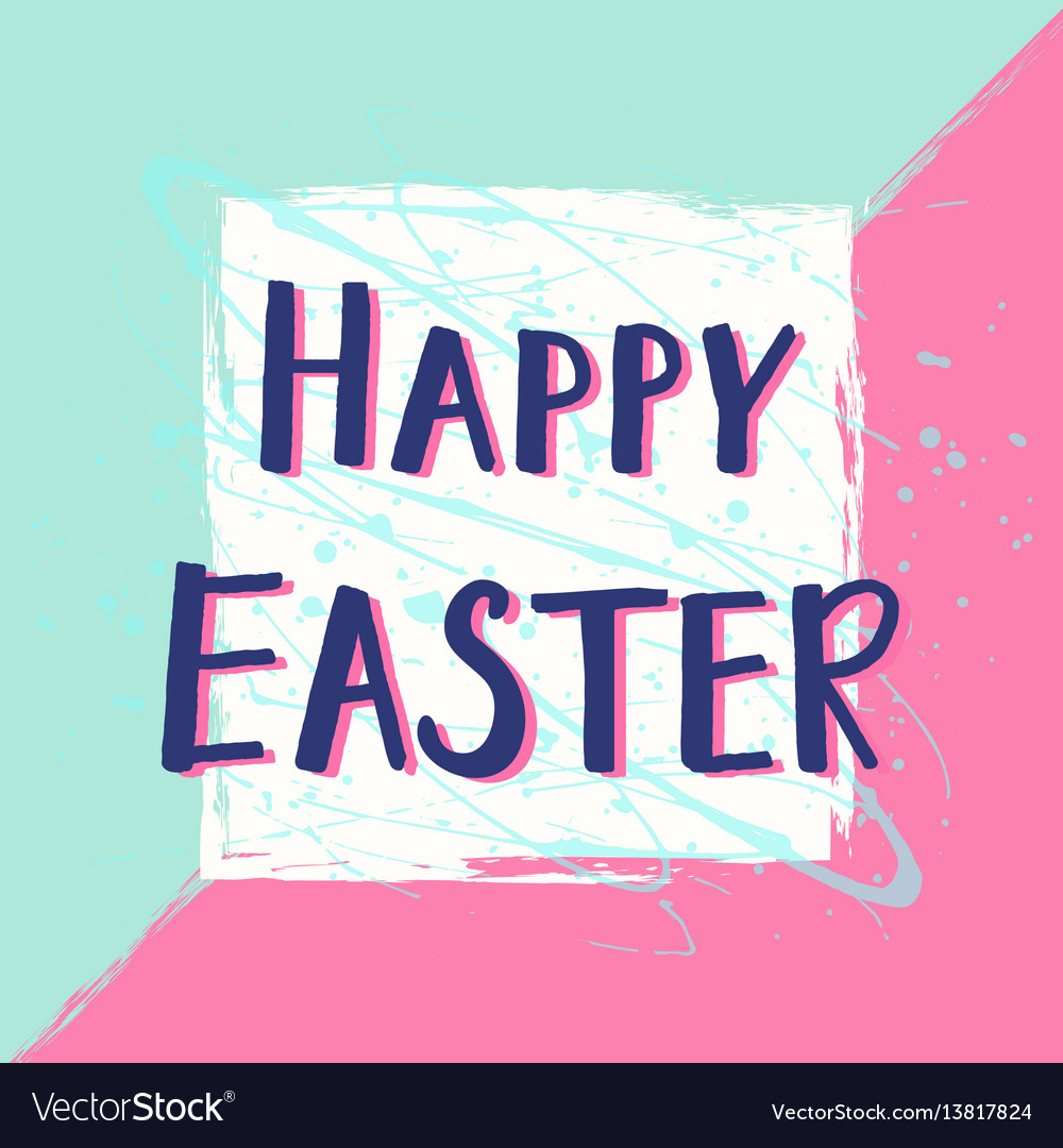 Happy easter greeting card with hand drawn vector image m4hsunfo