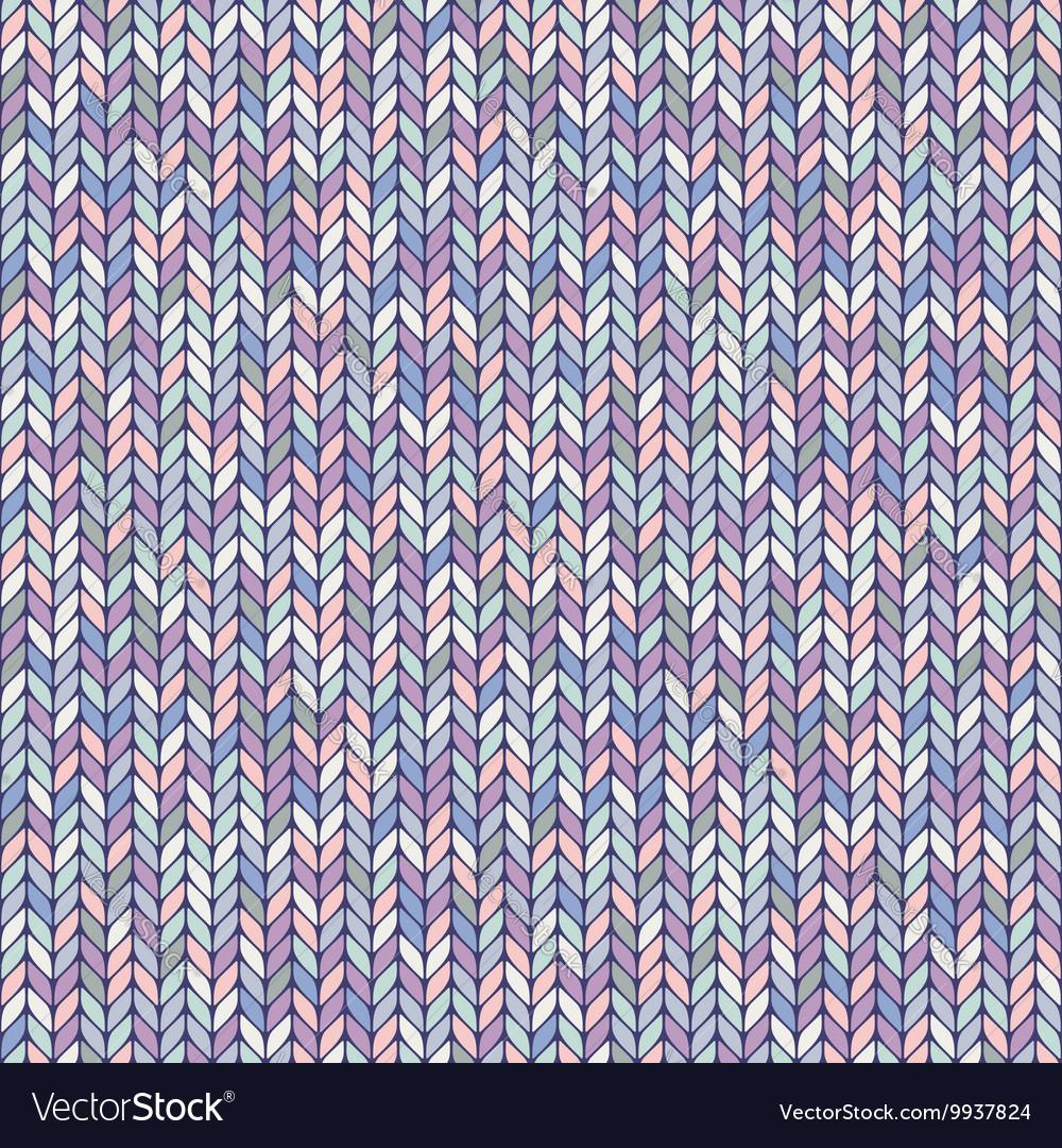 Melange pastel knitted seamless background pattern vector image