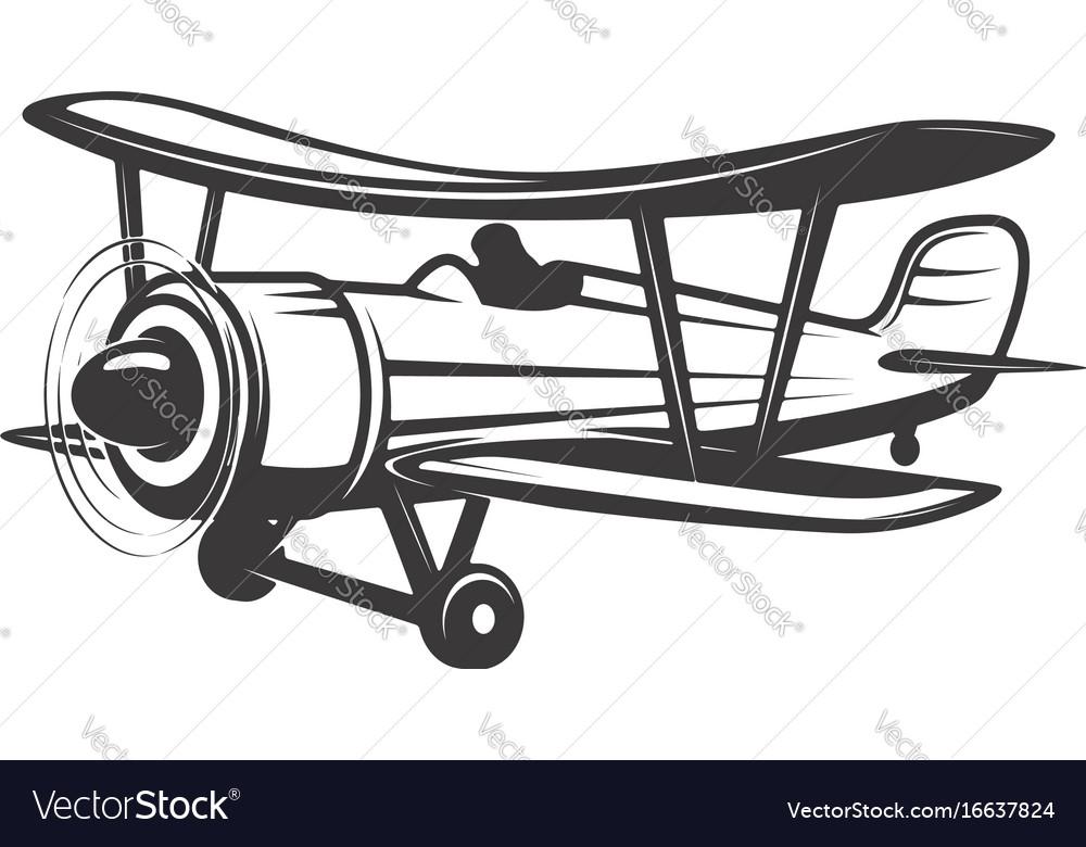 Vintage aeroplane isolated on white
