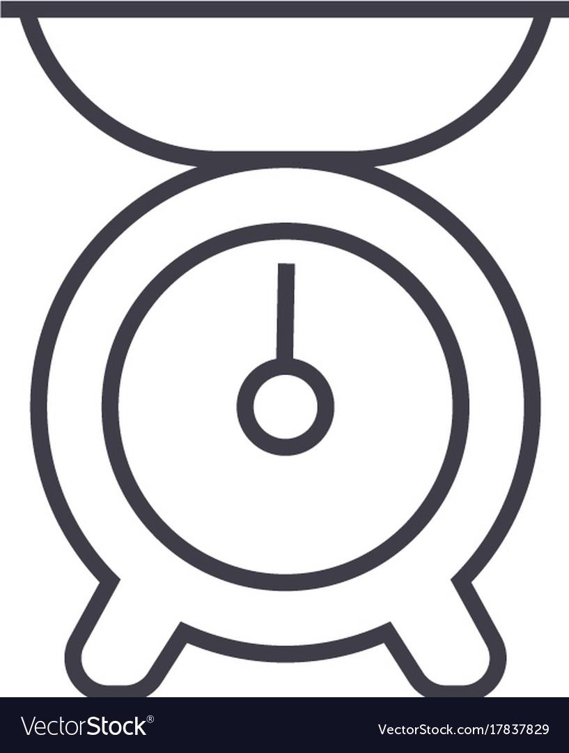 Kitchen weight line icon sign