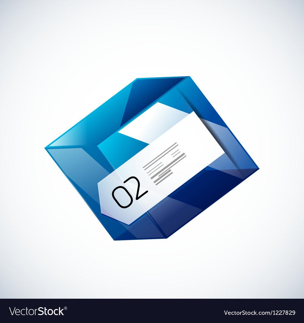 modern 3d glass cube design template royalty free vector