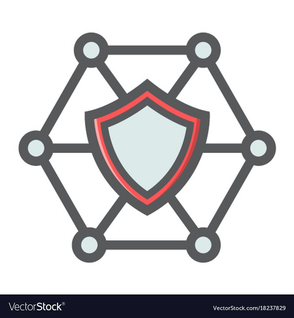 Network protection filled outline icon seo