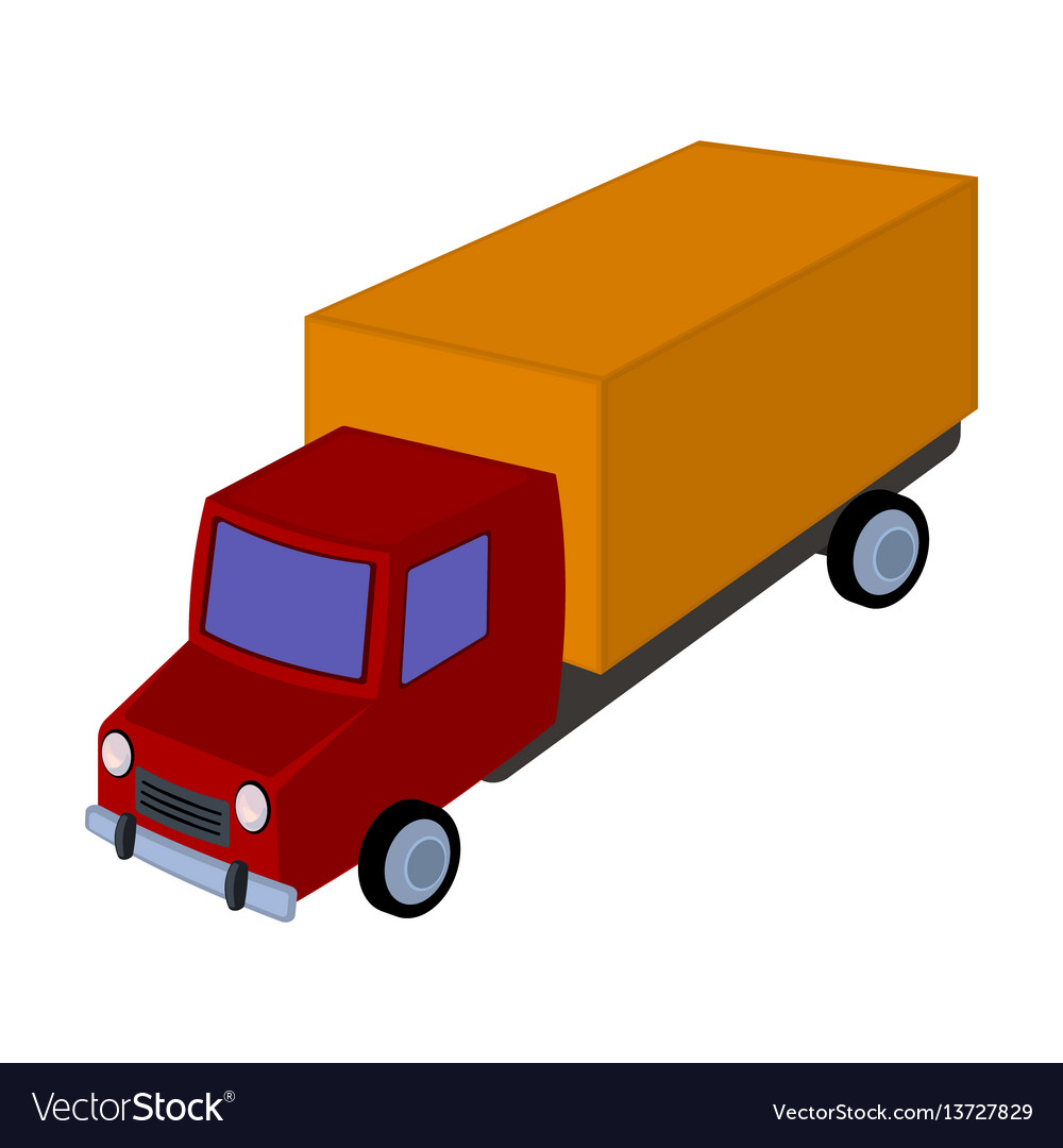 Red truck with a yellow body the car for cargo vector image