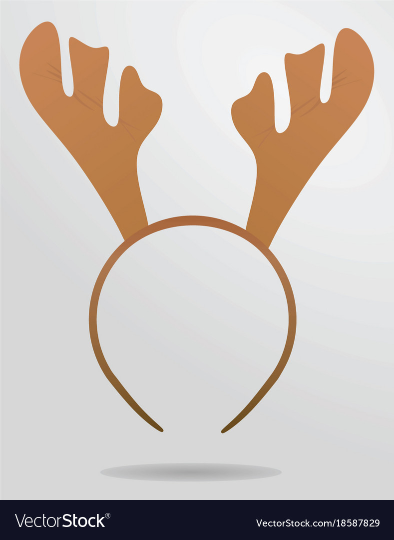 Reindeer Horns Head Band Royalty Free Vector Image