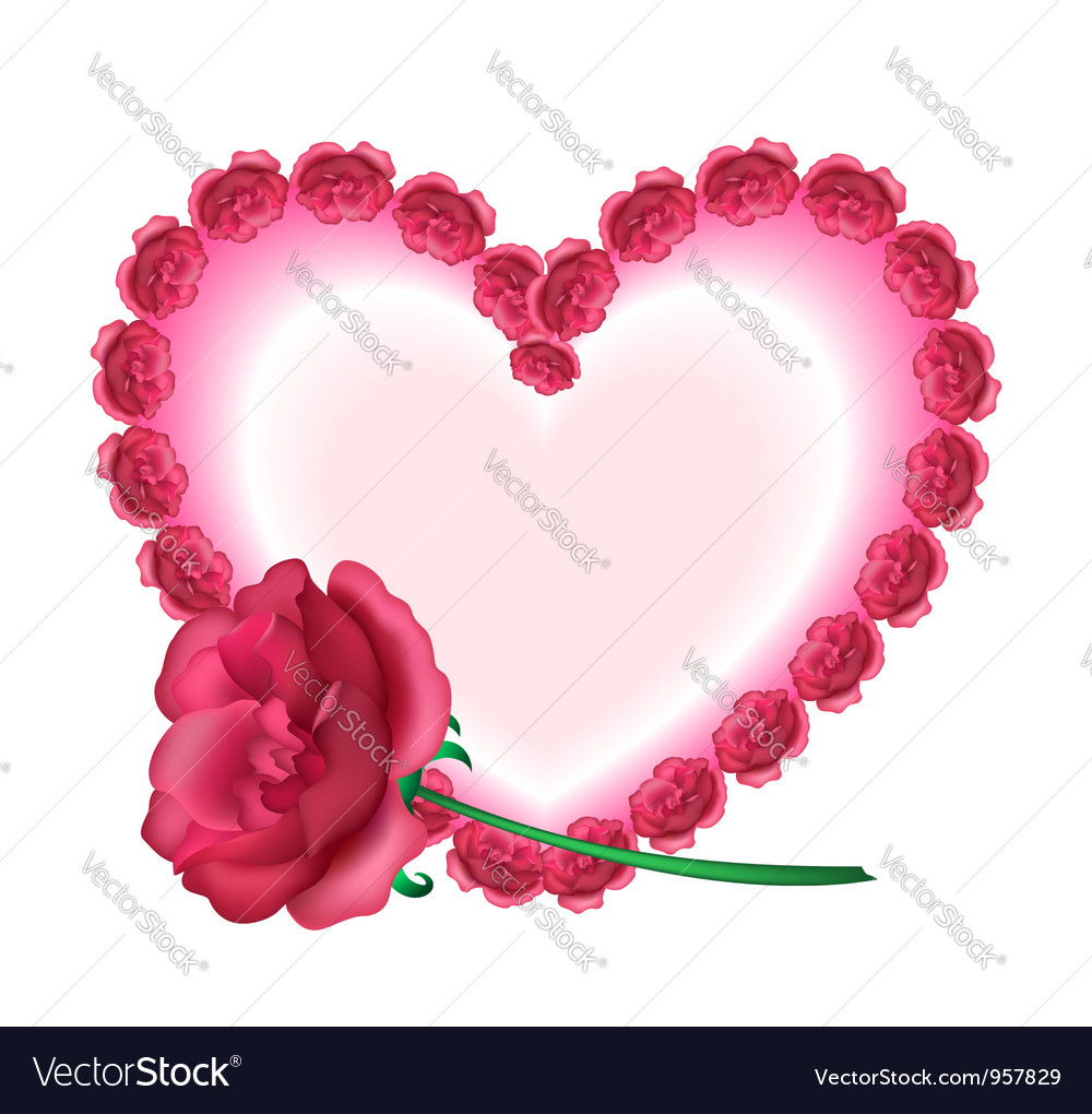 Rose Heart Royalty Free Vector Image Vectorstock