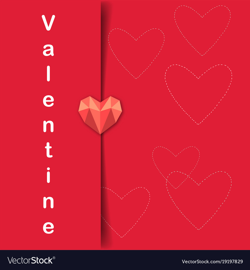 Valentine Day Letter Of Heart Image Royalty Free Vector