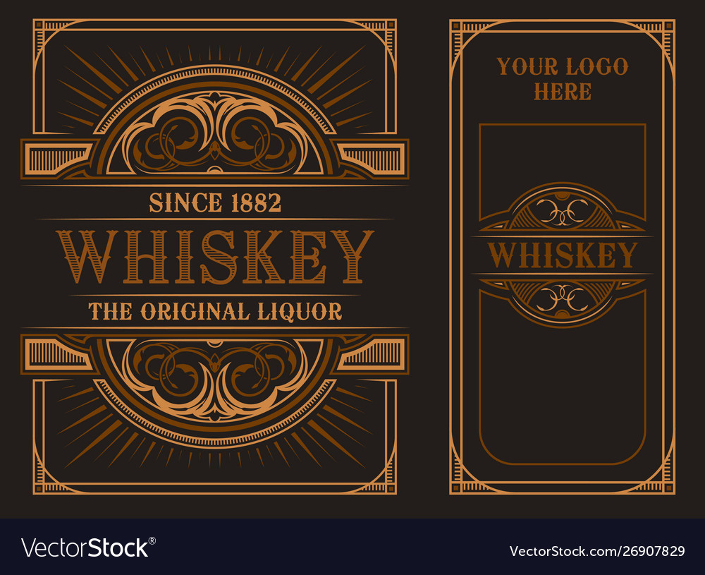 Vintage label template for whiskey