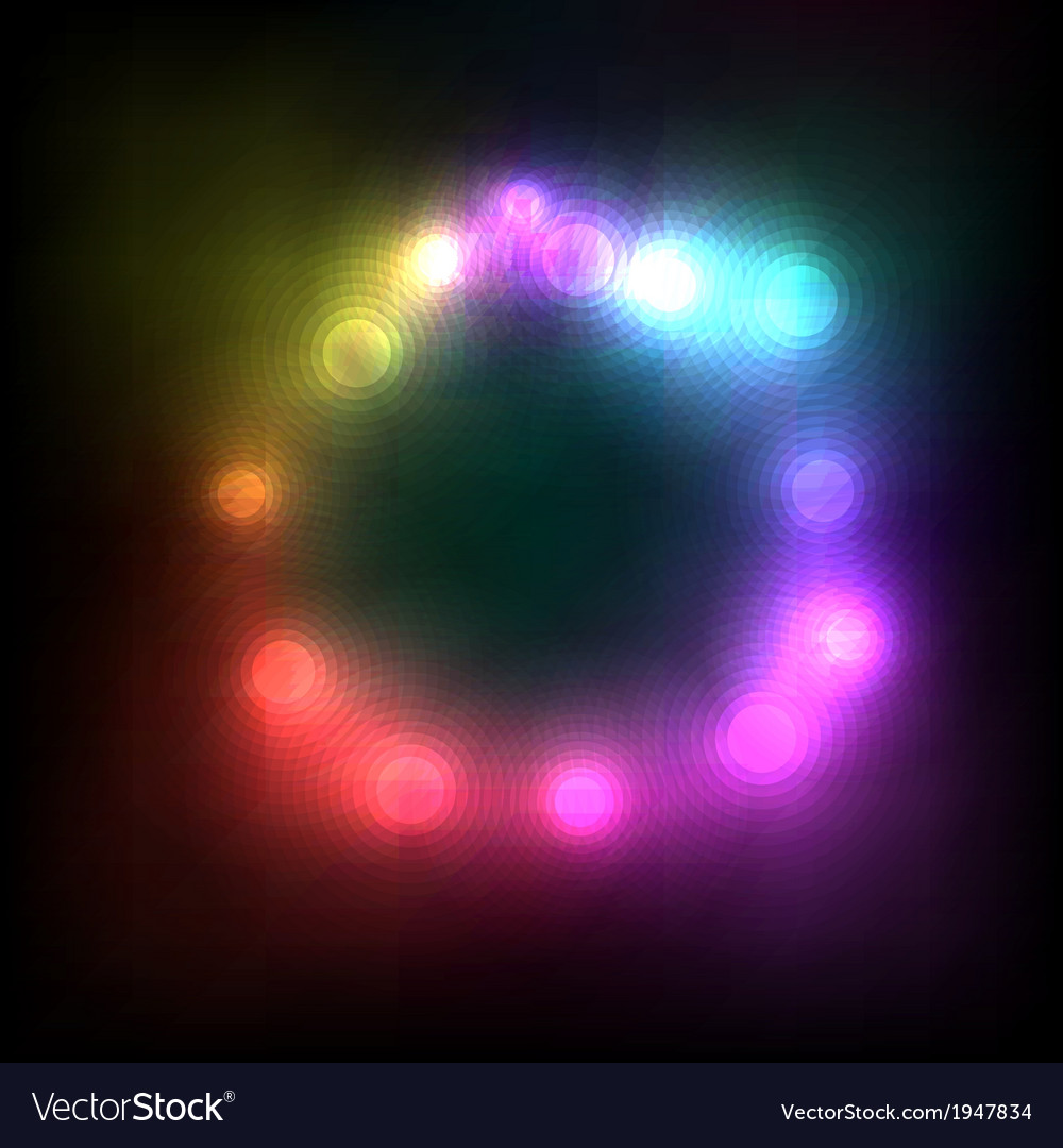 Abstract Colorful Magic Glow Light