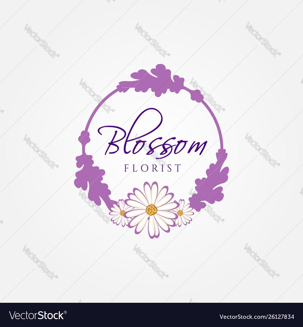 Blossom florist logo sign symbol icon