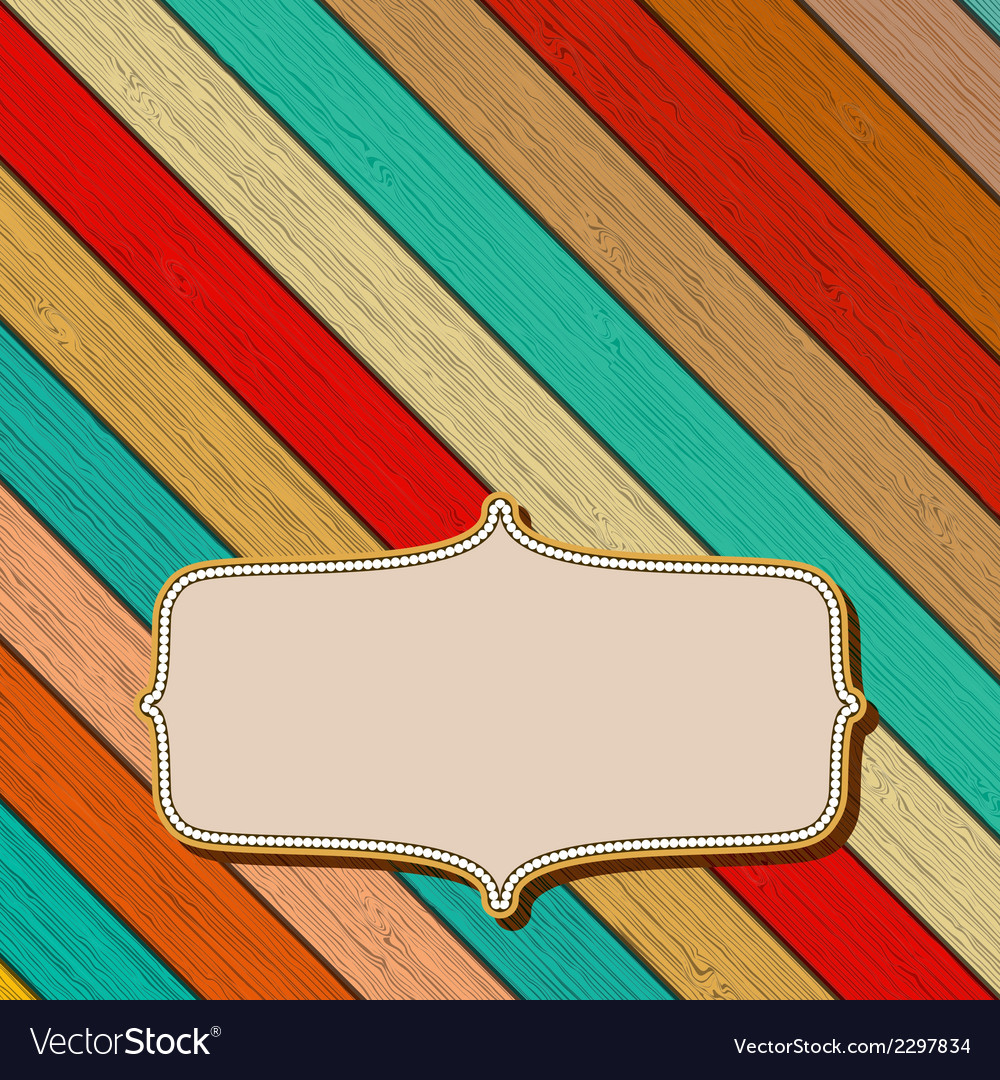 Colorful wooden background with copyspace EPS8 vector image