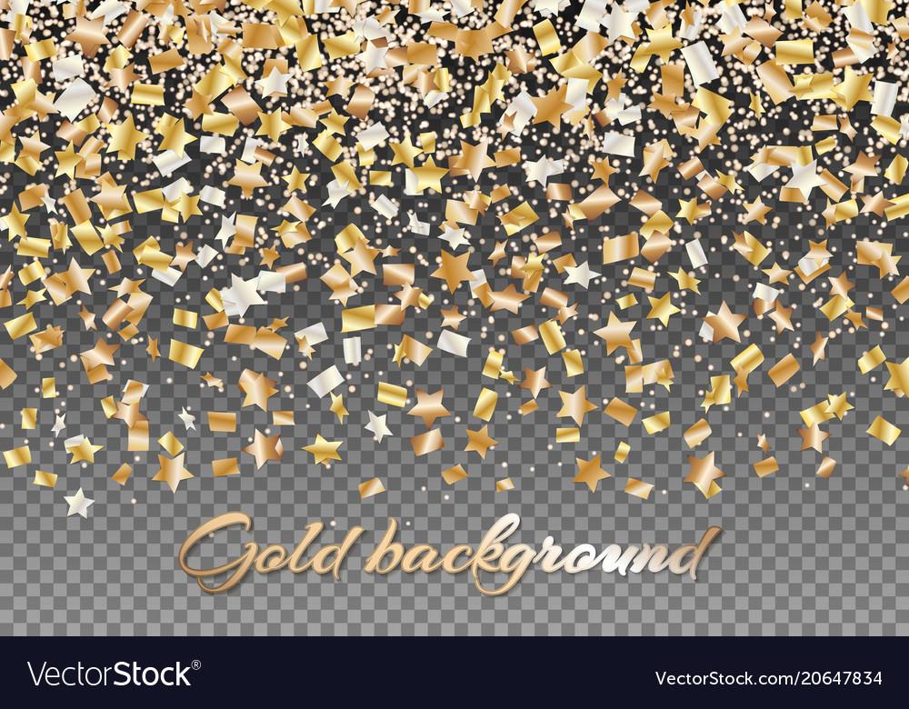 Golden stars of confetti