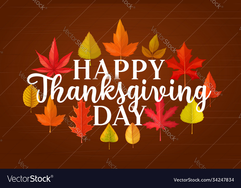 Happy thanksgiving day greeting card design