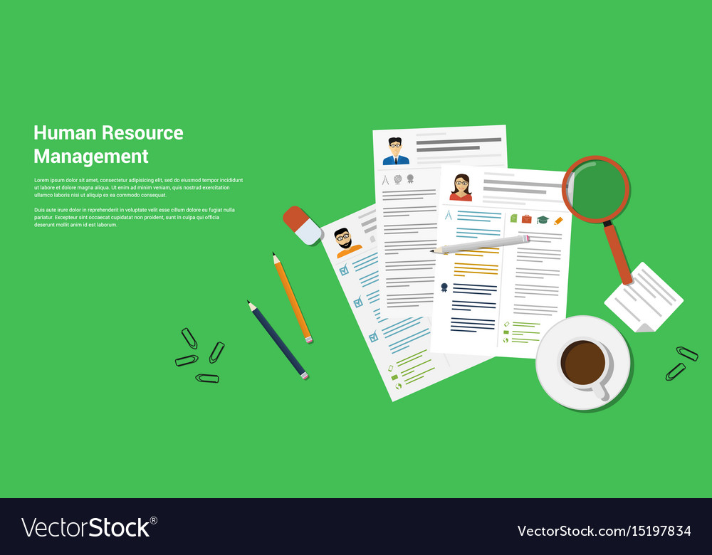 Human recource management vector image
