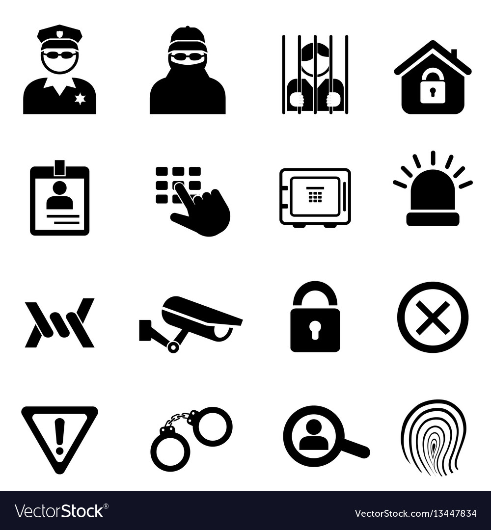 Security and safety icon set vector image