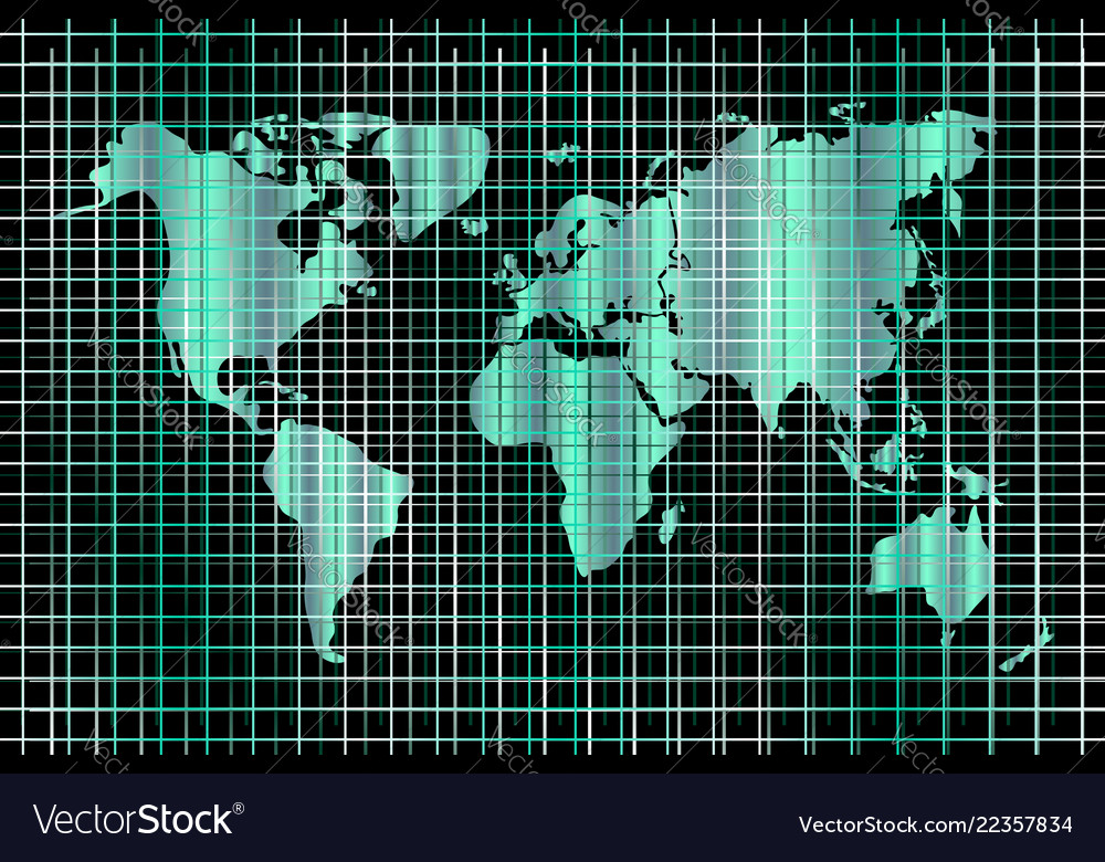 Technology background world map and lines