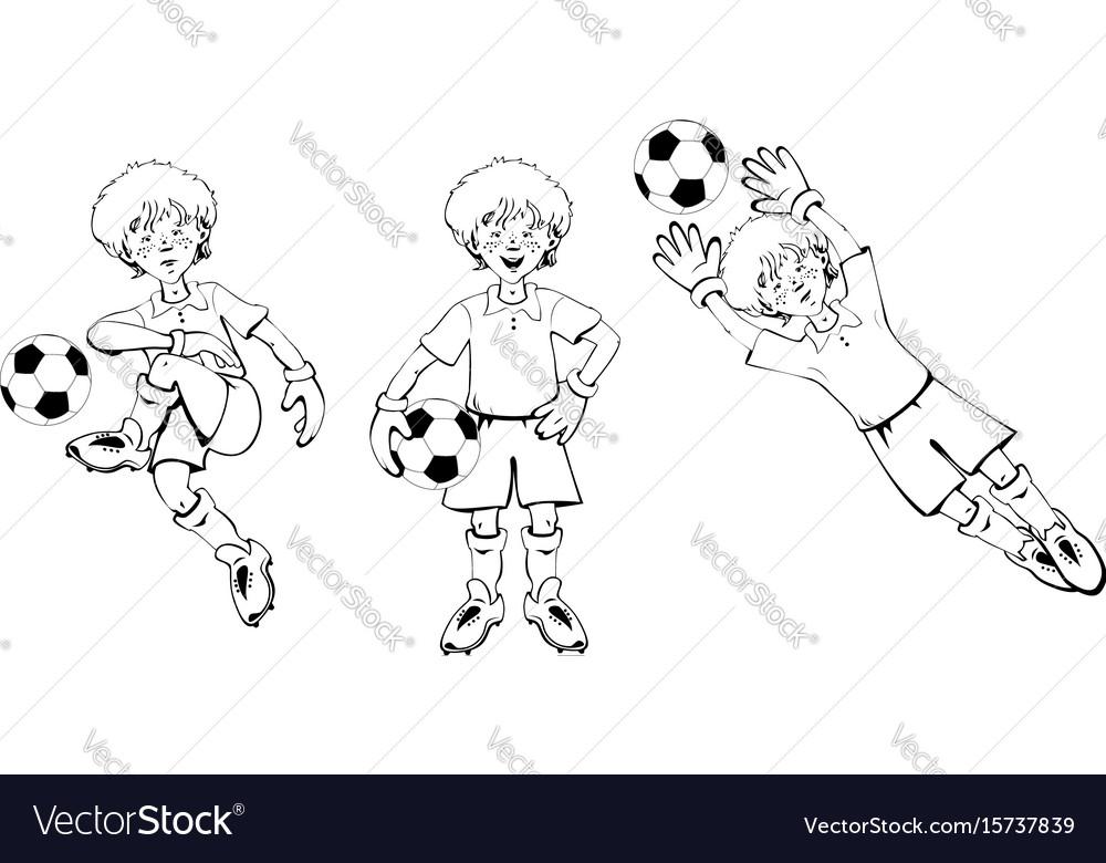 Boy soccer goalkeeper