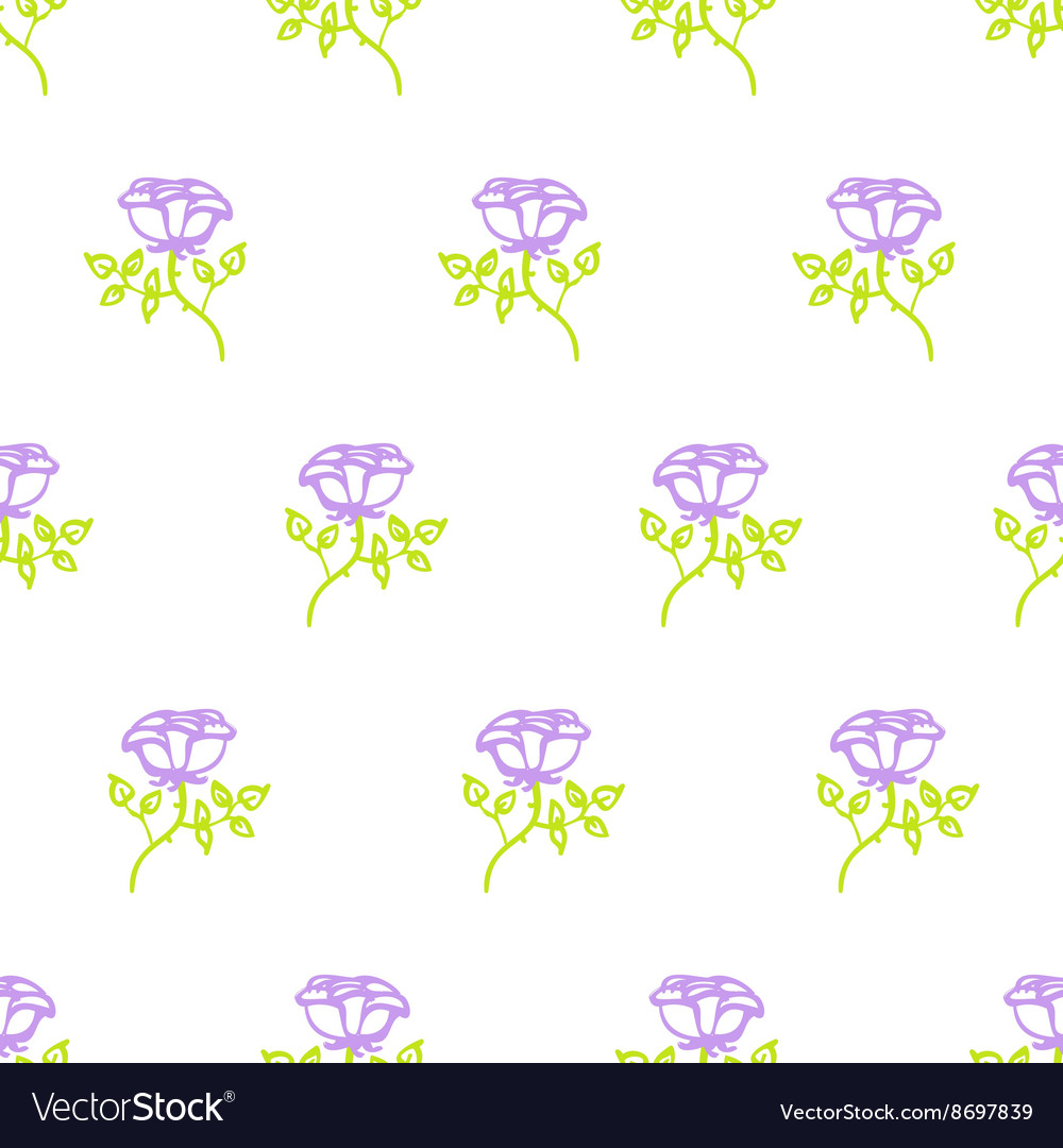 Floral pattern with small roses vector image