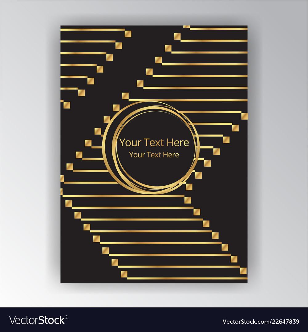 Golden black page decoration art deco art nuvo