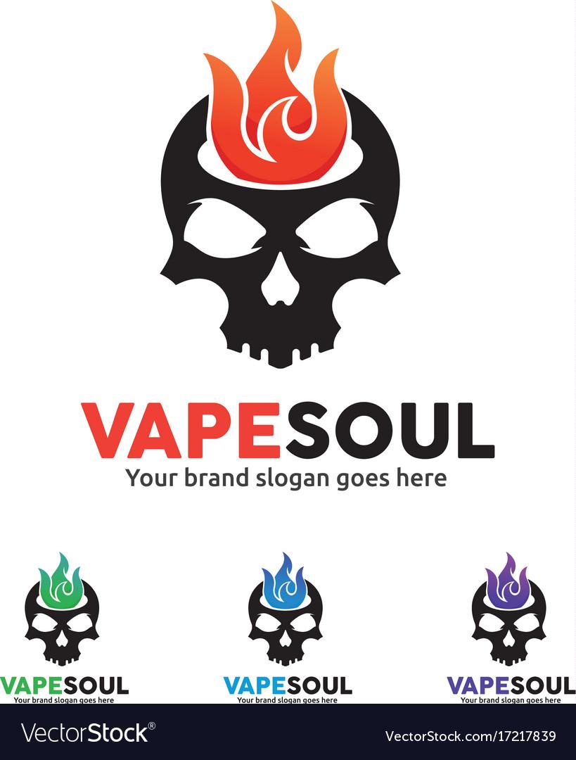 Skull fire logo for e-cigarette business