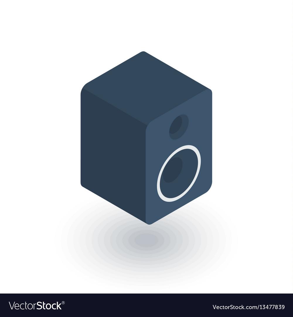 Subwoofer speaker isometric flat icon 3d vector image