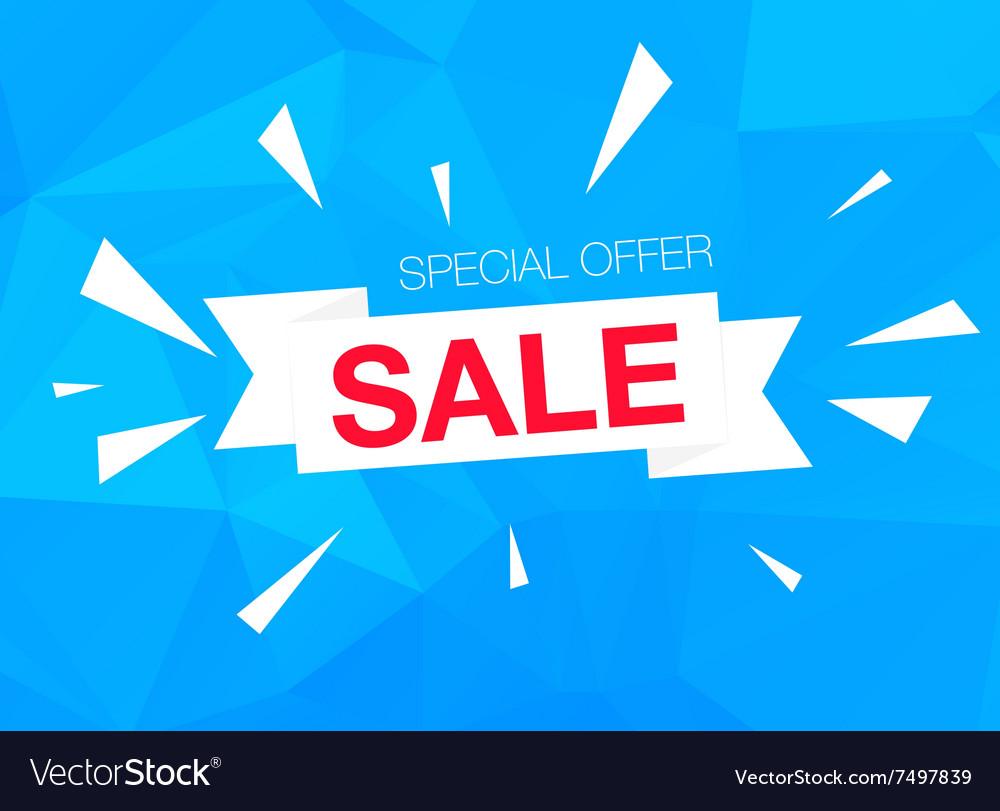 Super Sale Special Offer banner on blue background vector image