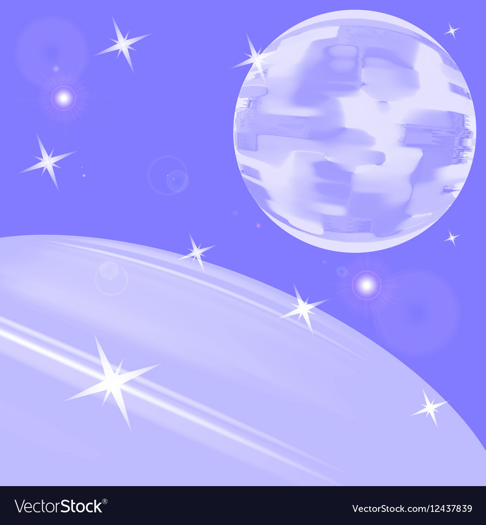 The moon and the earth from space vector image