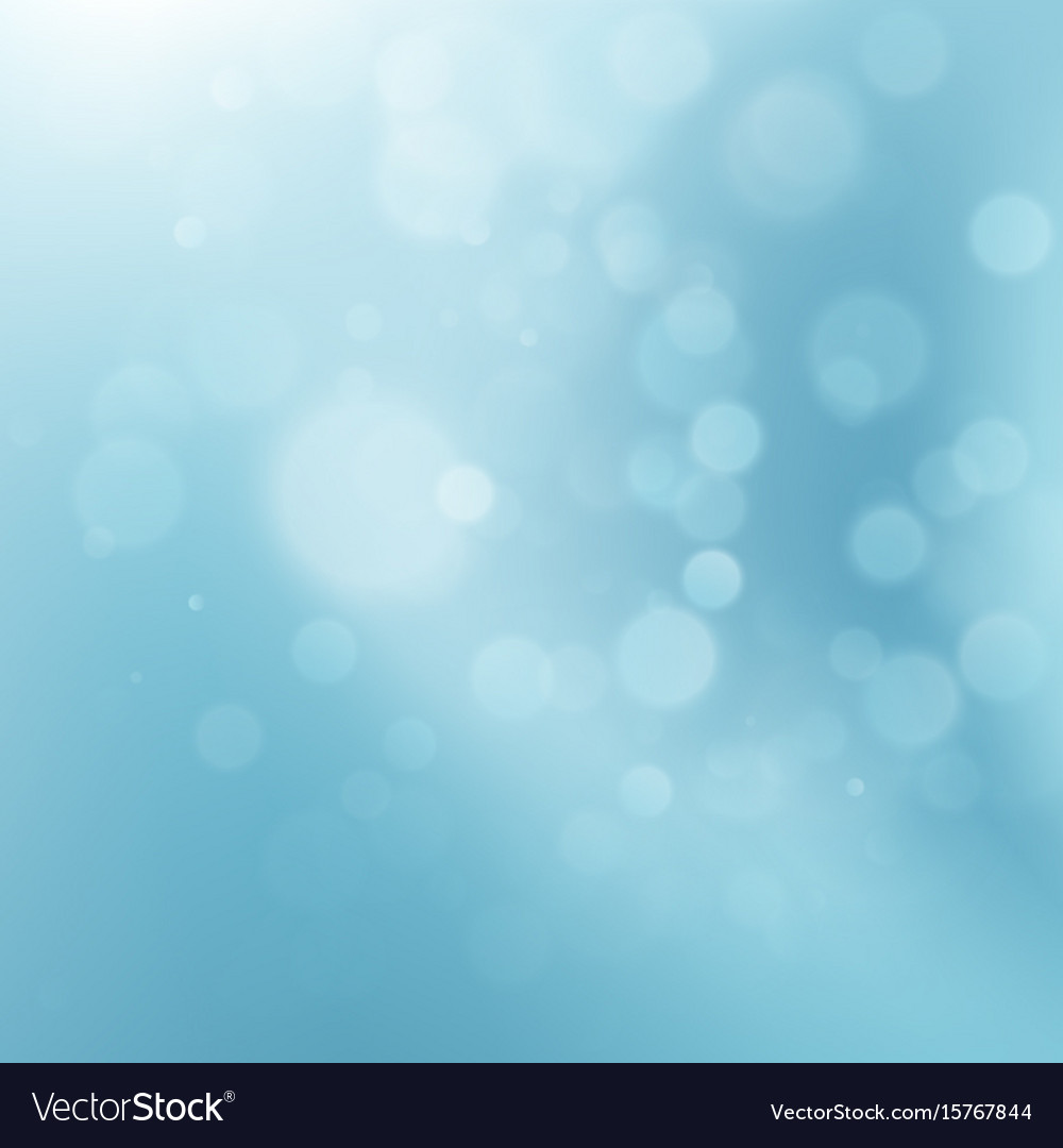 Abstract blue circular bokeh eps 10 vector image