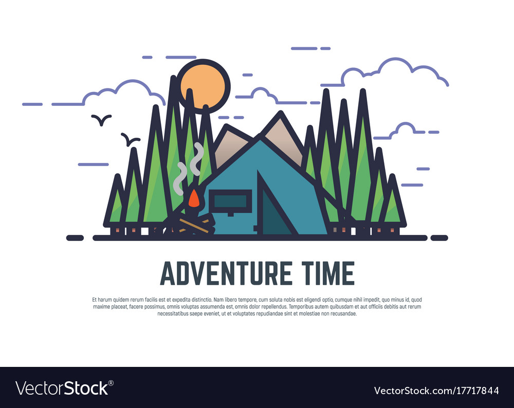 Adventure time camping vector image