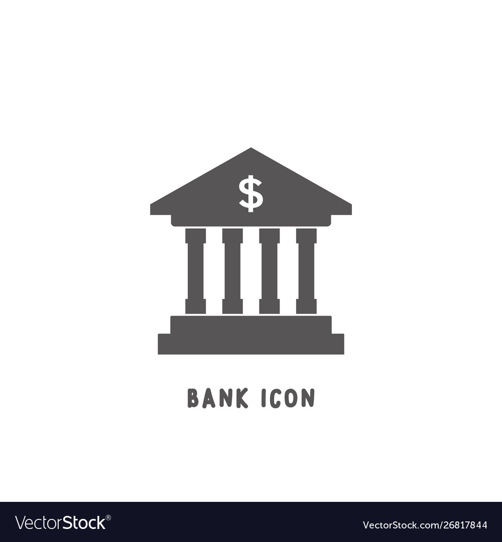 Bank icon simple flat style