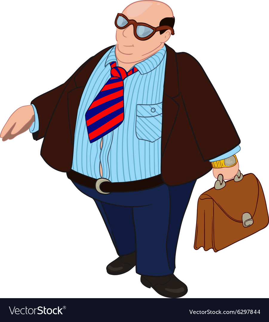 Fat Bald Boss vector image