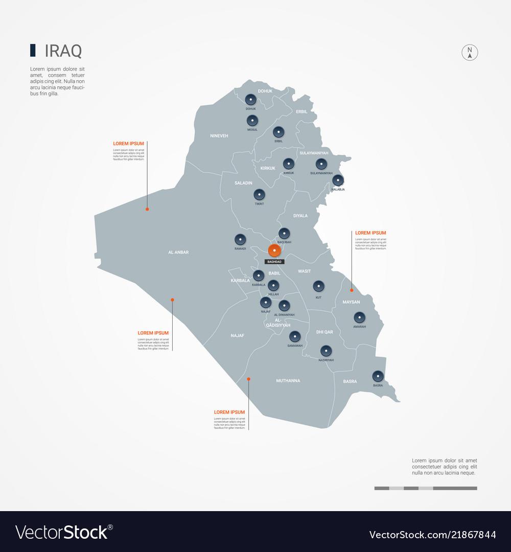 Iraq infographic map