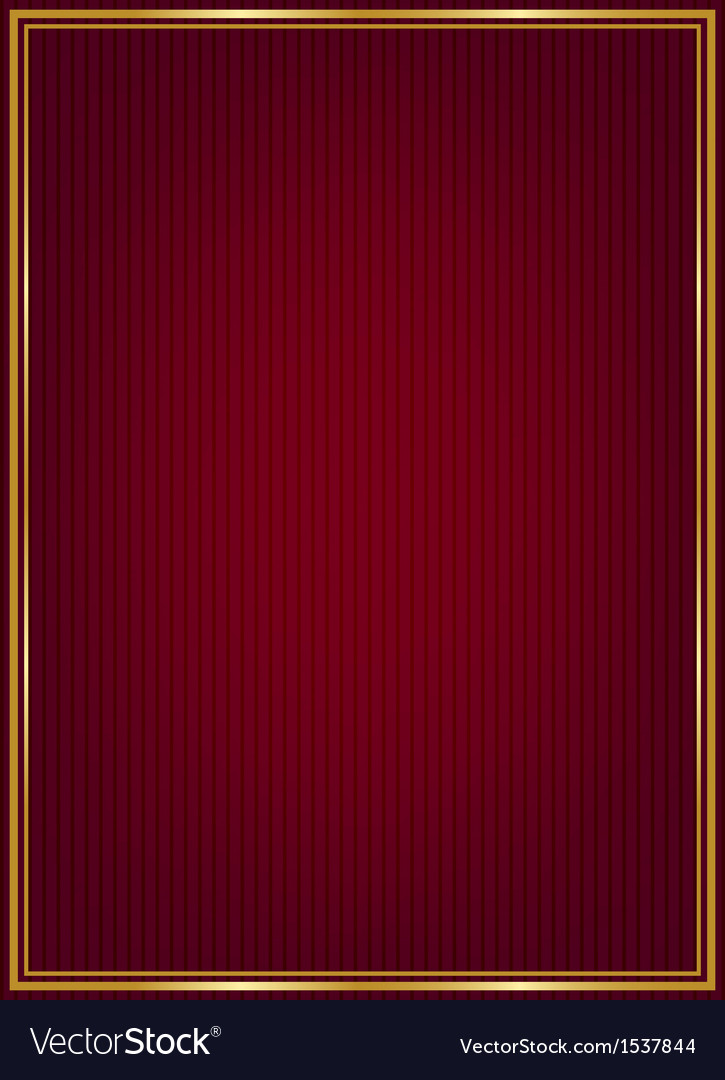 Red texture and golden frame