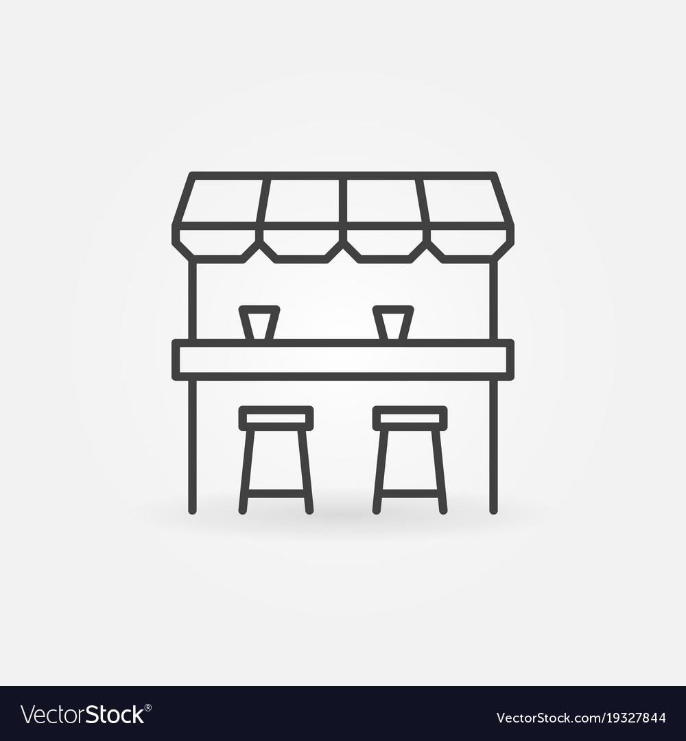 Street bar outline icon - design element