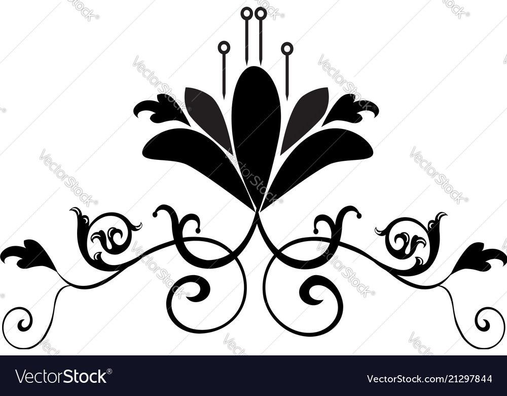 Vintage flower design symbol