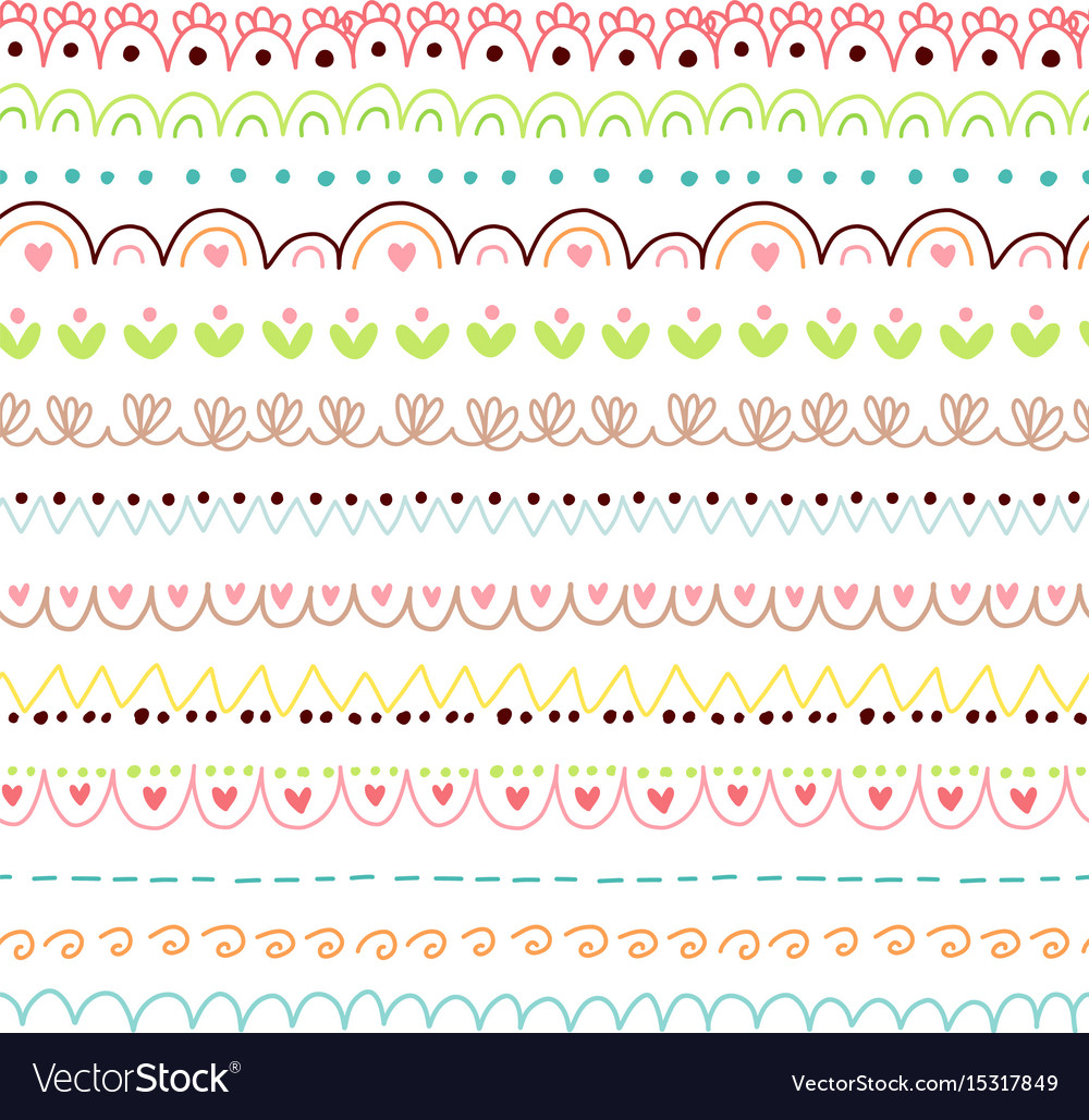 doodles cute borders royalty free vector image