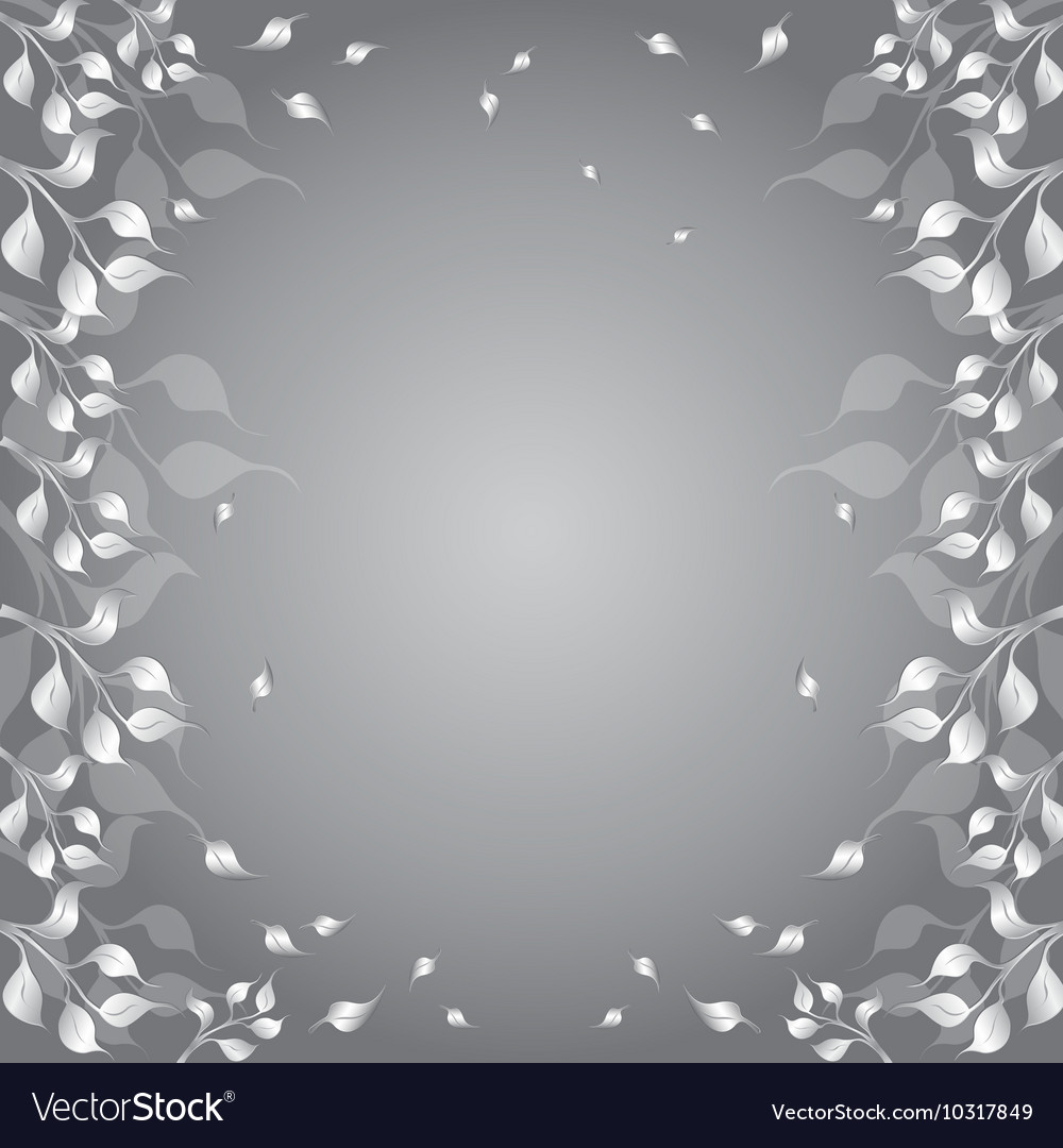 Floral Frame with Flyaway Autumn Foliage