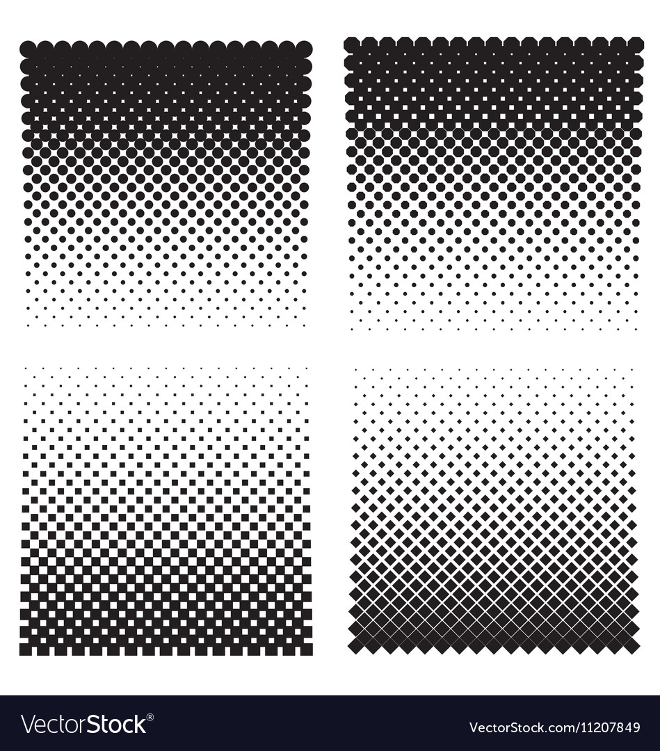 Halftone effect backgrounds