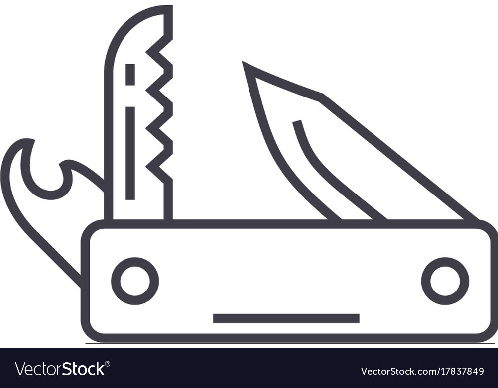 Knife army multipurpose toolswiss folding knife vector image